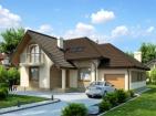 Проект элегантного дома с гаражом и мансардой