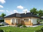 Проект уютного одноэтажного дома с гаражом